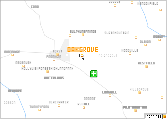map of Oak Grove