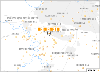 map of Oak Hampton