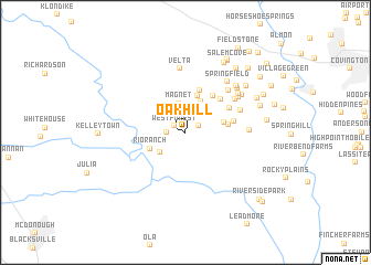 map of Oak Hill