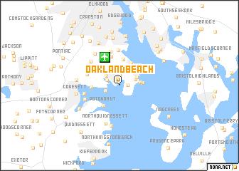 Oakland Beach United States USA map nonanet