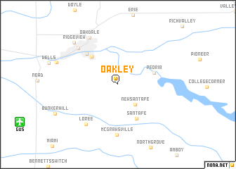 map of Oakley