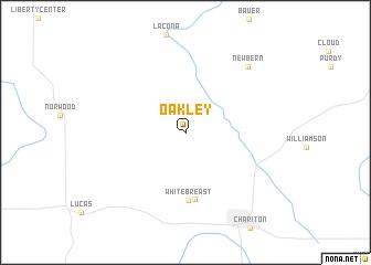 map of Oakley