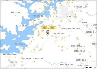 map of Oakwood