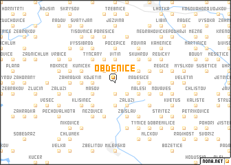 map of Obděnice