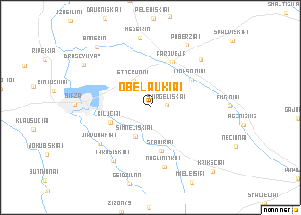 map of Obelaukiai