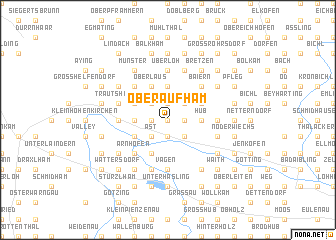 map of Oberaufham