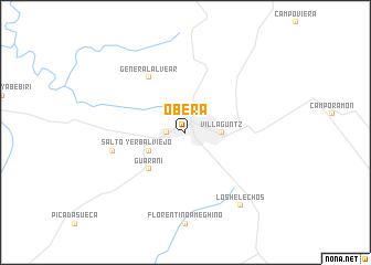 map of Oberá