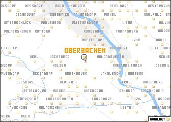 map of Oberbachem