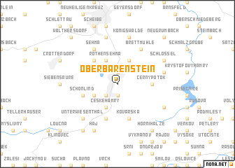 map of Oberbärenstein