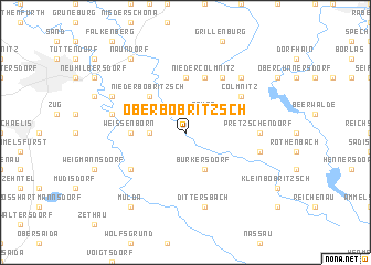 map of Oberbobritzsch