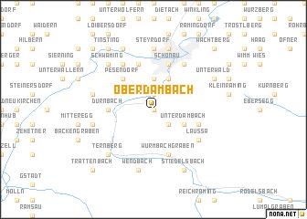 map of Oberdambach