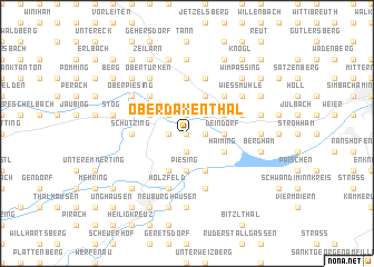 map of Oberdaxenthal