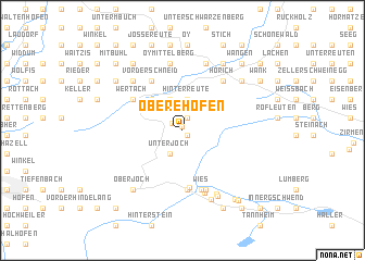 map of Obere Höfen