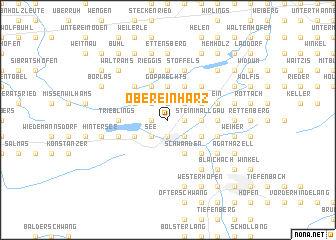 map of Obereinharz