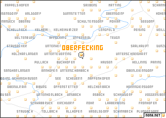 map of Oberfecking