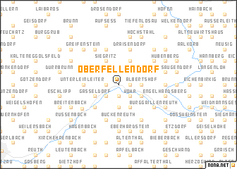 map of Oberfellendorf