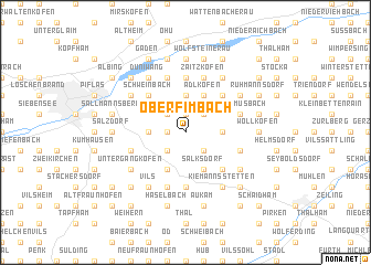 map of Oberfimbach