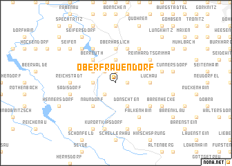 map of Oberfrauendorf
