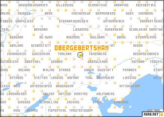 map of Obergebertsham