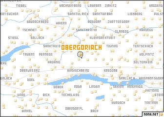 map of Obergöriach