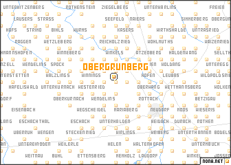 map of Obergrünberg