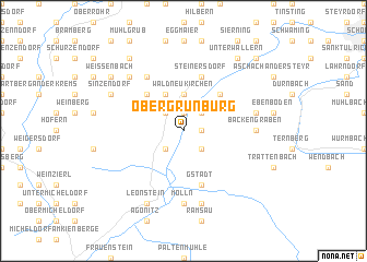 map of Obergrünburg