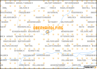 map of Oberhaindlfing