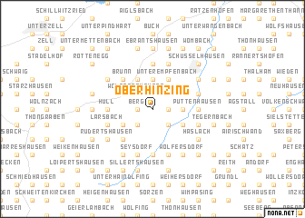 map of Oberhinzing