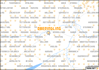 map of Oberindling