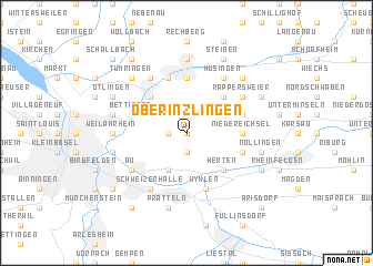 map of Ober Inzlingen