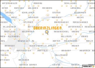 map of Ober Inzlingen