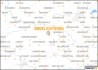 map of Oberlichtenau