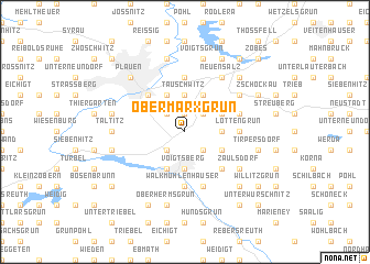 map of Obermarxgrün