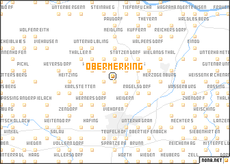 map of Obermerking