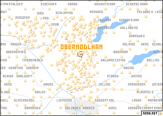 map of Obermödlham