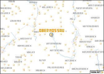 map of Ober-Mossau