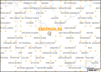 map of Obermühlau