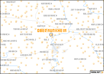 map of Obermünkheim