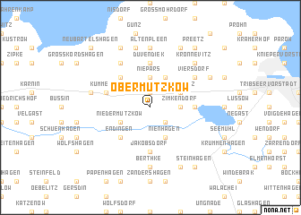 map of Ober Mützkow