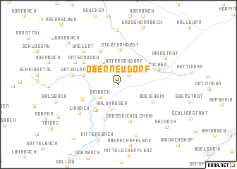 map of Oberneudorf