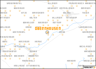 map of Obernhausen