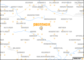 map of Obernheim