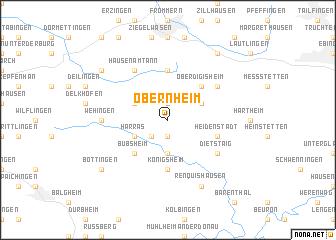map of Obernheim