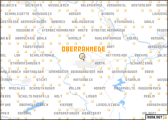 map of Oberrahmede