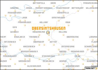map of Obersimtshausen