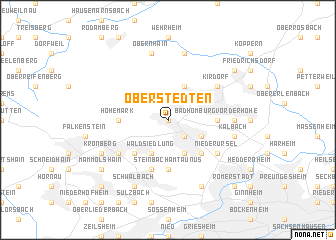 map of Oberstedten