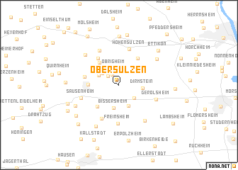 map of Obersülzen