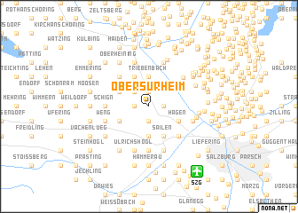 map of Obersurheim