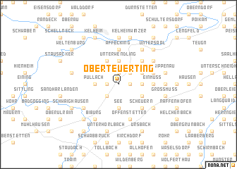 map of Oberteuerting