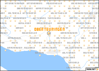 map of Oberteuringen